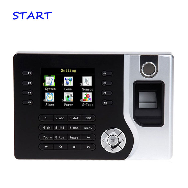 Free Shipping A-C071 TCP/IP Biometric Fingerprint Time Clock Recorder Attendance Employee Electronic Punch EM Card Reader