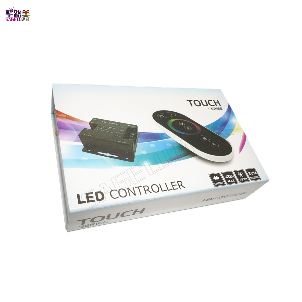 Free Shipping Best Price DC12-24V 18A RF Remote Wireless Touch Pad Panel LED Controller For 5050 RGB LED Strip Light