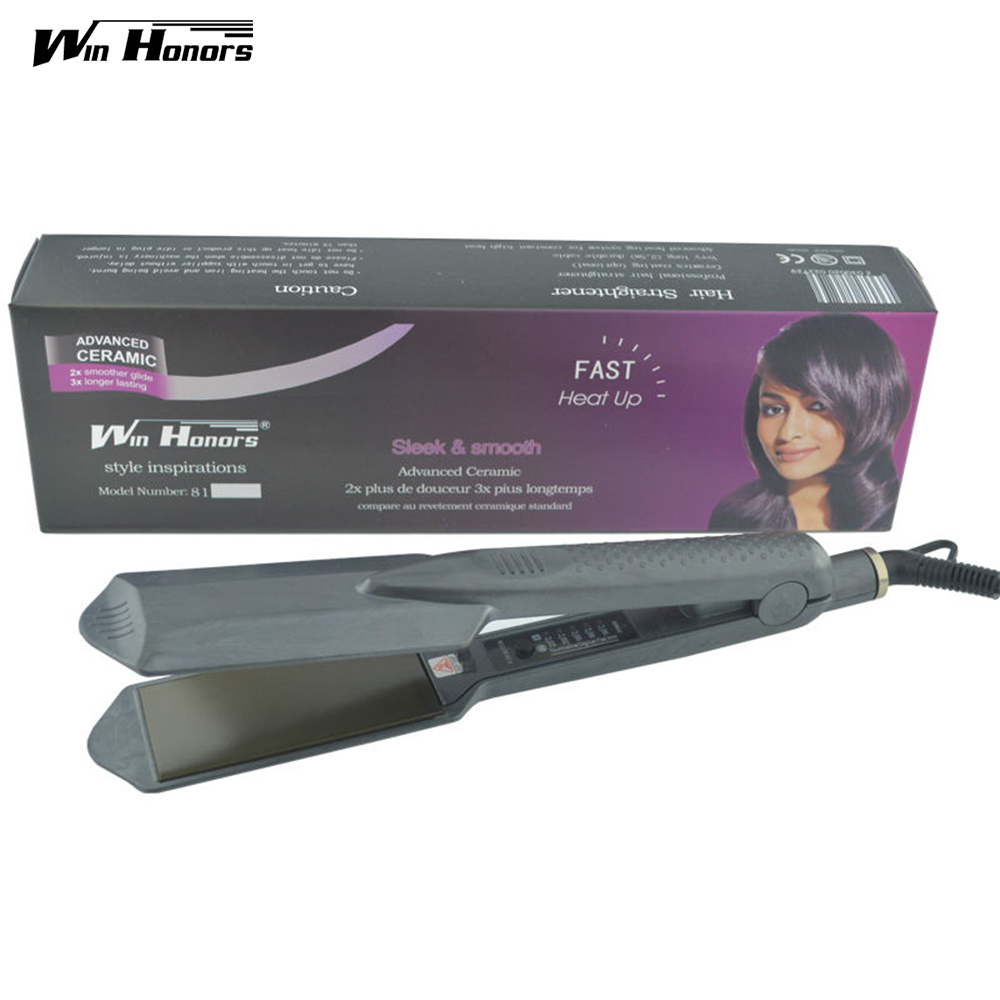 Professional Hair Iron Straightener Brand Nano Titanium 5 Different Temperature Setting Flat Iron Led Display 100-240V titanium plates hair straightener lcd display straightening iron mch fast heating curling iron flat iron salon styling tools