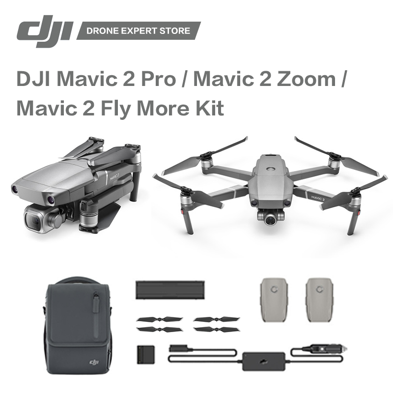 Original DJI Mavic 2 Pro / Mavic 2 Zoom / Mavi 2 Fly More Kit Drone with Camera 4K Video Professional Aerial Photography dji mavic pro platinum fly more combo 1080p with 4k video camera drone rc helicopter fpv quadcopter original