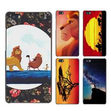 hakuna matata lion king Hard Case Black Cover Scrub for Huawei P8 P9 Lite Plus P7 Mate S 7 8 9