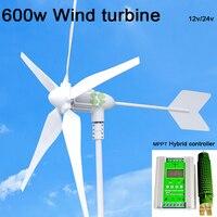 Max Power 800W Wind Turbine MPPT Wind Solar Hybrid Charge Controller 600w Wind 600w Solar For