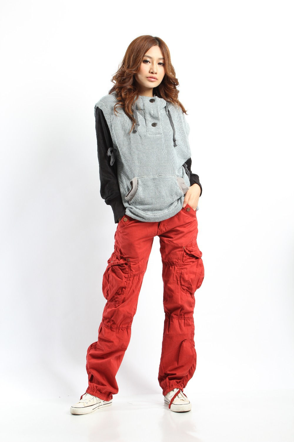Aliexpress.com  Buy Medium Waist Casual Cargo Pants For Women With High Quality Womens trousers ...