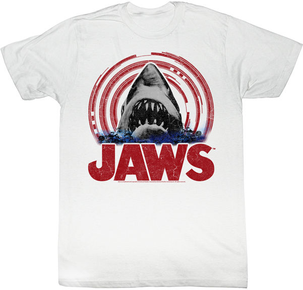Jaws Spiral Frame Around Jaws Adult T Shirt Classic Movie-in T ...