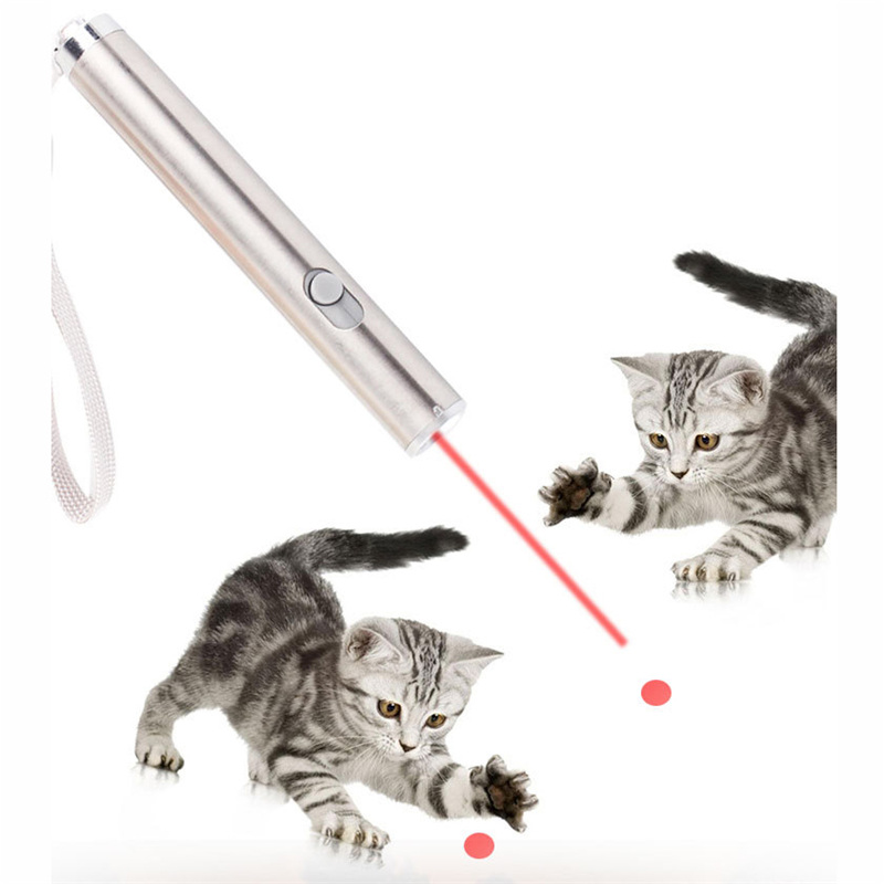 Pet LED Laser Toy Laser Cat Toys Stick  2 In 1 Red Laser Pen LED Flashlight Exercise Training Tool Interactive Tease Cats Rods