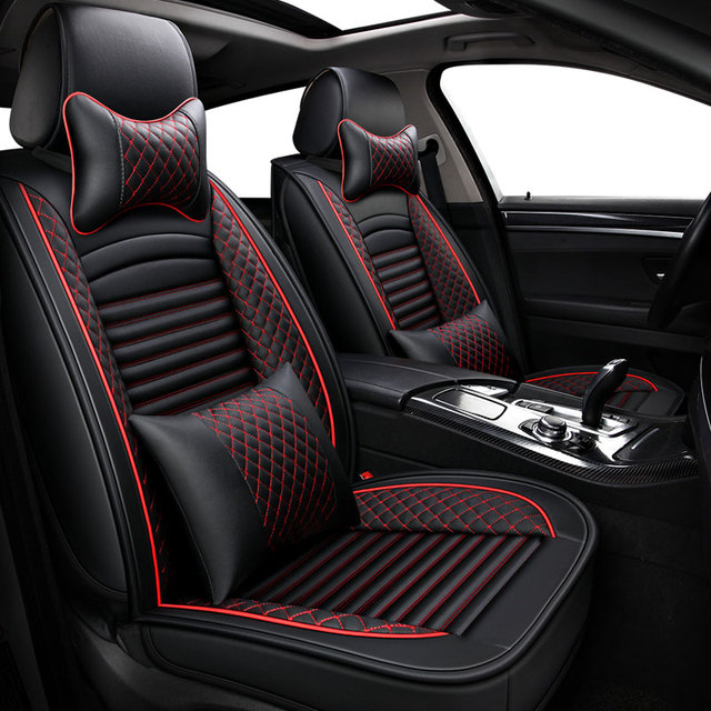Leather car seat covers auto protector interior accessories for ford focus 1 2 3 mk2 mondeo 3 4 for Ford focus interior accessories