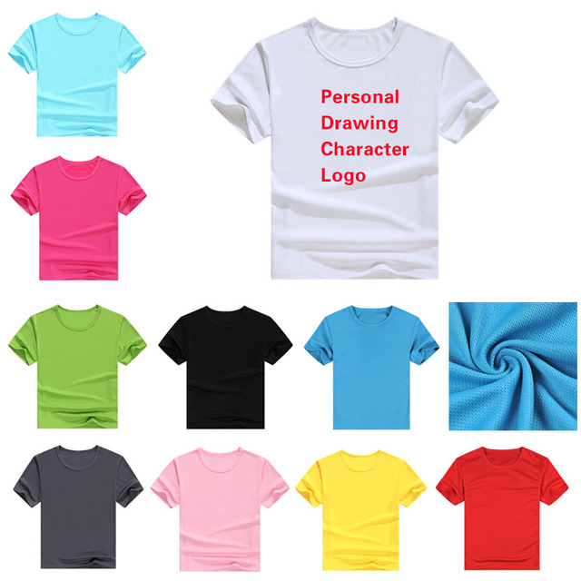 Customized LOGO Patterns Summer Solid Children T-Shirts Girls Boys T Shirts  for sports World Cup Football clothes Custom Tee