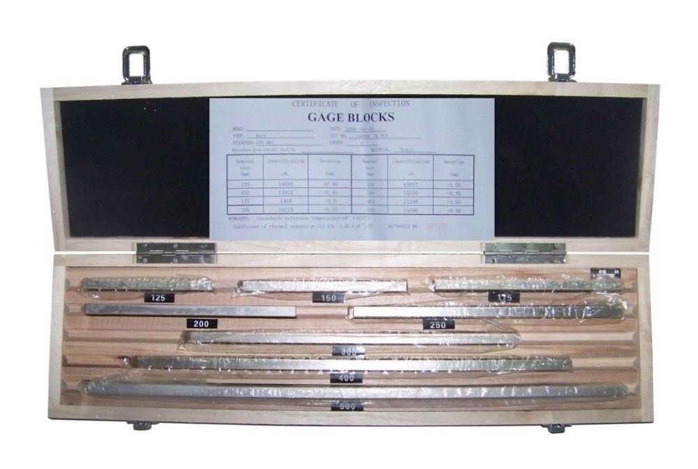 Блок калибра Набор, блок калибра 125-500 мм, 8 шт./компл., 1 Класс