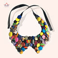 2017 New Fashion False Collar Handmake Bohemian Necklaces Traditional Ribbon Chain Necklace For Women WYA069