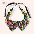 2017 Nueva Moda Falso Collar Handmake Tradicionales de La Cinta Collar de Cadena Para Las Mujeres de Bohemia Collares WYA069
