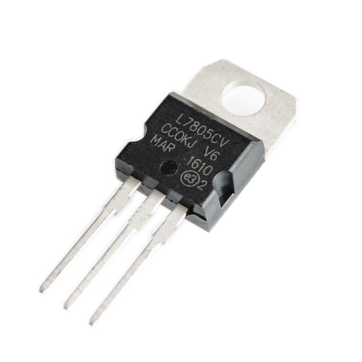 100pcs L7805cv L7805 Lm7805 7805 Voltage Regulator Ic 5v In Circuit Symbols Integrated Components 25pcs