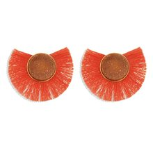 Orange Color Hot Sale Sun Flower Earrings for Girls Resin Cute Small Daisy drop Earrings Women Fashion Jewelry(China)