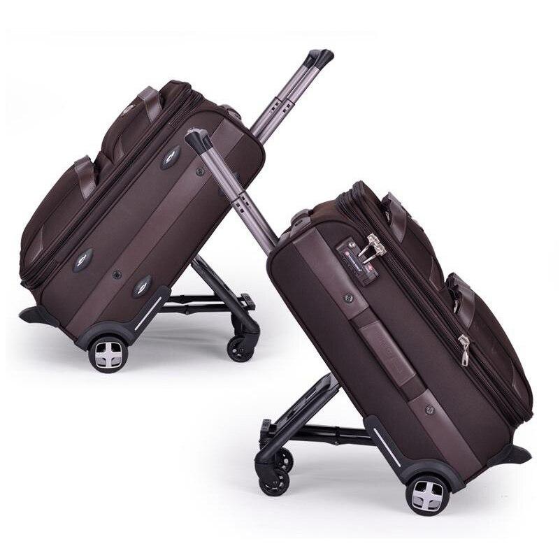 100d94b92cb2 Letrend Multifun для мужчин бизнес сумки на колёсиках колёсики Путешествия  Duffle чемодан с колесами Оксфорд тележка