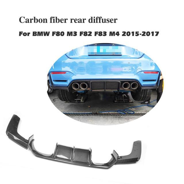 Us 207 96 10 Off 3pcs Set Carbon Fiber Rear Bumper Diffuser Lip Extension For Bmw F80 M3 F82 F83 M4 2015 2017 Bumper Exhaust Diffuser In Bumpers