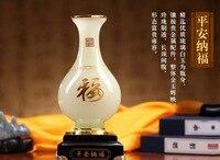 Christmas gift home office business efficacious FENG SHUI Talisman Protection Auspicious Lucky Safe jade bottle Sculpture statue