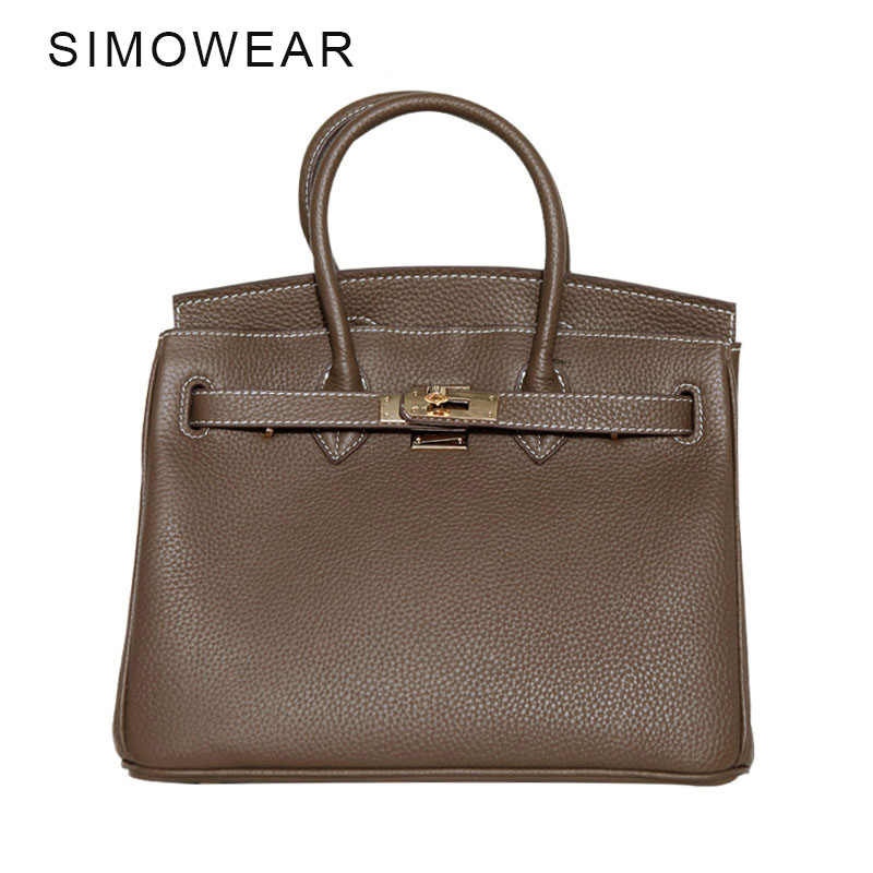 SIMOWEAR Classic It Bag Brand Design Women Handbags High Quality Genuine Leech Cowskin Saffiano Shoulder Bag All-match Lady Bag the explosion of the classic all match solid colored body hip high elastic denim pants feet female winter bag mail