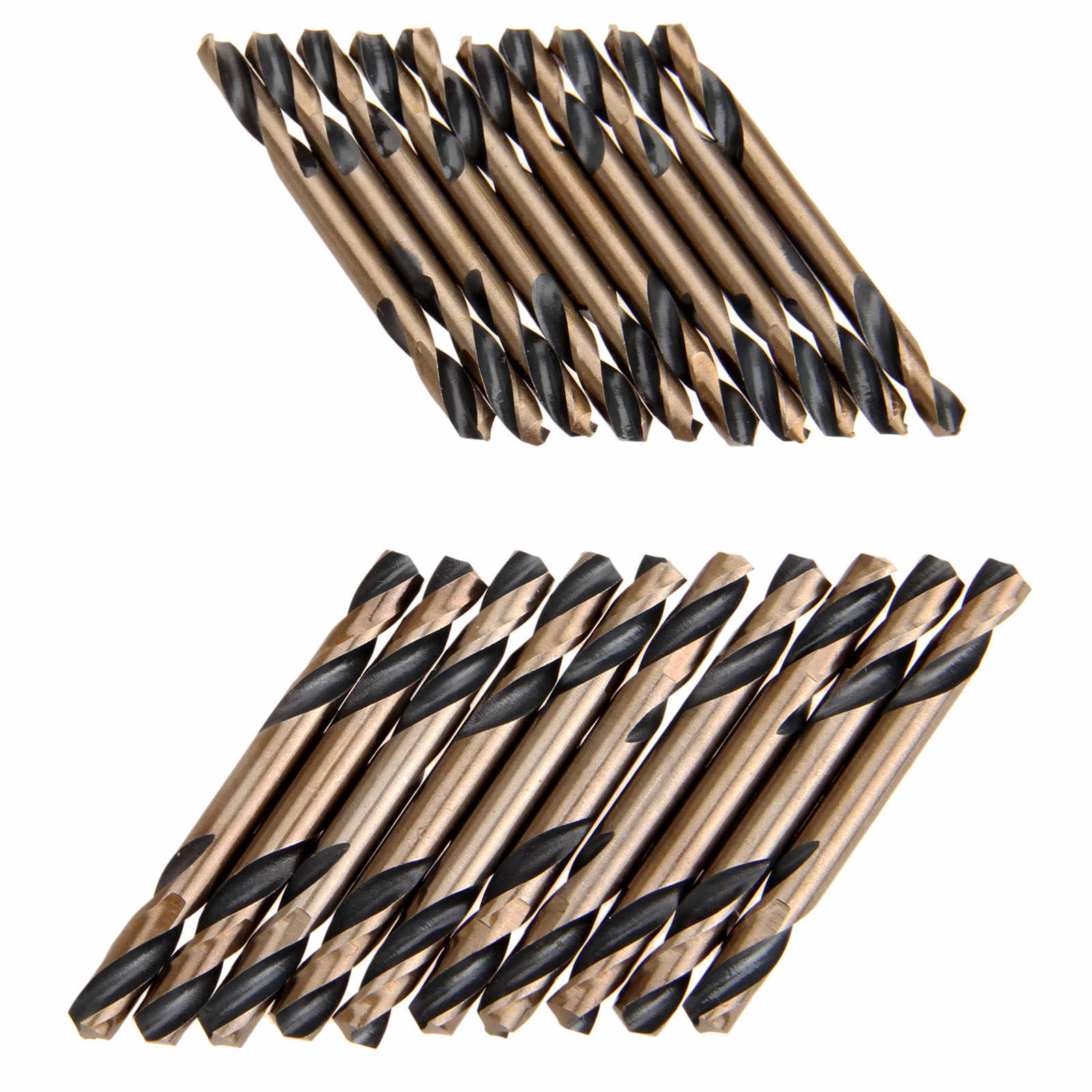 10Pcs 5mm HSS Drill Bits Double Ended for Metal Stainless Steel Iron Working