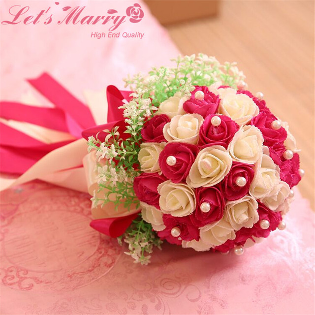 WDZ-284 2017 New Romantic Beach Artificial Flower Wedding Bouquets Bouquet De Mariage Buque Casamento Wedding Decoration