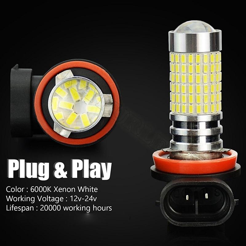 1 pcs H11 H16 Lampu LED 1500 Lumens Chipset H8 144-EX Sangat Terang - Lampu mobil - Foto 2