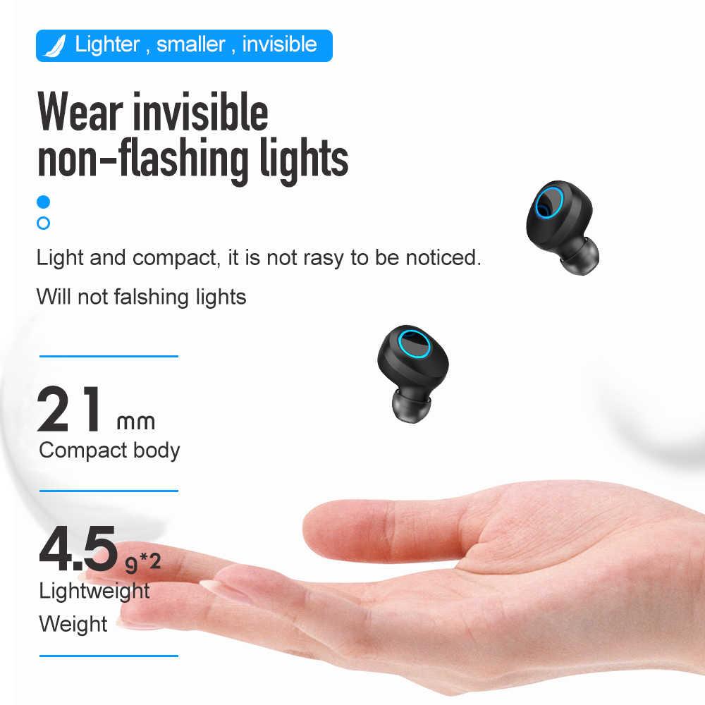 TWS bezprzewodowy/a słuchawki Bluetooth 5.0 słuchawki wodoodporny wyświetlacz LED zestaw słuchawkowy Mini Stereo HiFi sportowe słuchawki douszne głęboki bas douszne z mikrofonem