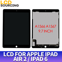 9.7 inch For Apple iPAD AIR 2 LCD Display A1566 A1567 Touch Screen Digitizer Panel Assembly Digitizer For iPAD 6 Display Replace