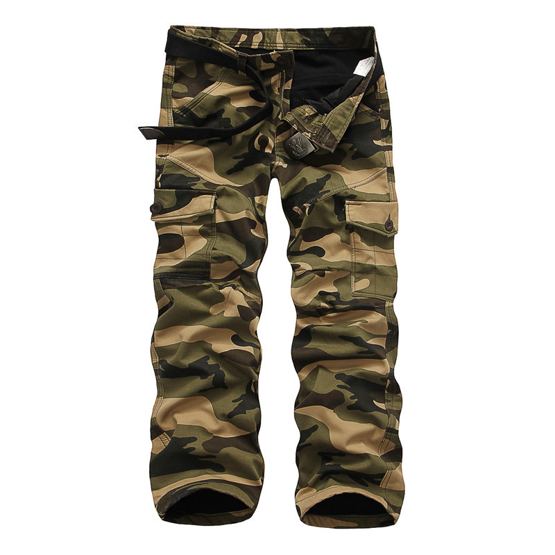 Winter Thicken Fleece Army Cargo Tactical Pants Overalls Men's Military Cotton Casual Camouflage Trousers Warm Pants 8
