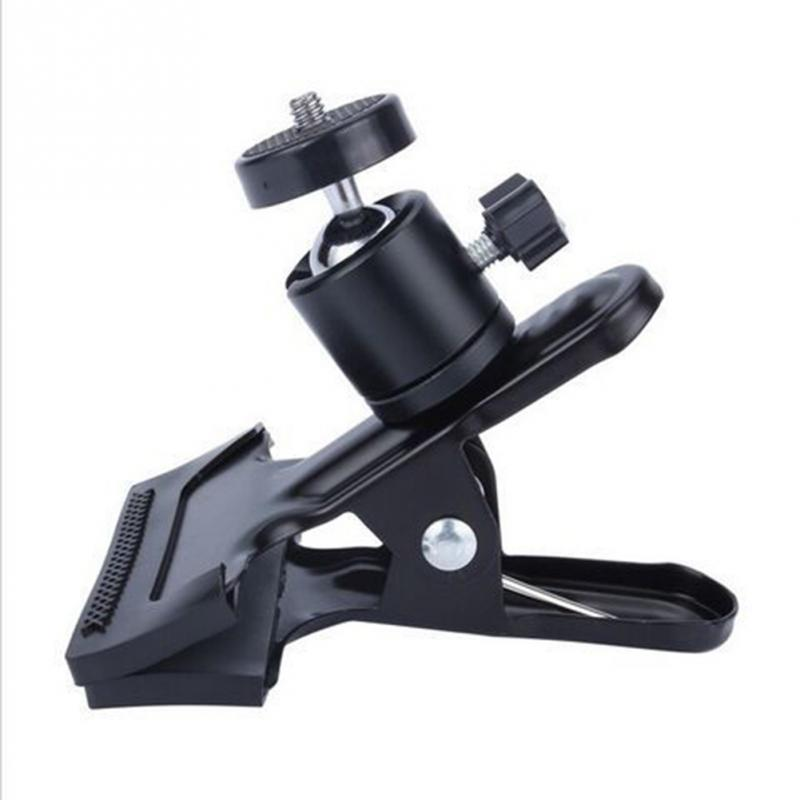 Universal Camera Photography Metal Clip Clamp Holder Mount with Standard Ball Head 1/4 Screw for Camera Flash Holder Bracket universal cell phone holder mount bracket adapter clip for camera tripod telescope adapter model c