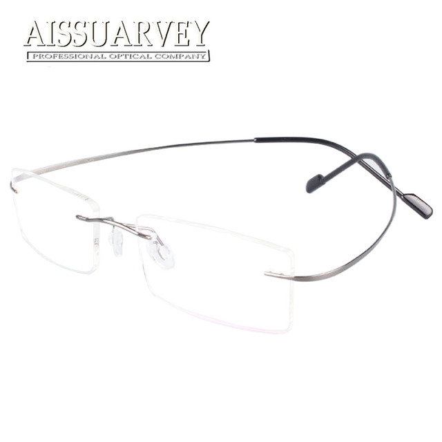 8cea868847 Rimless Titanium Glasses Frames Men Women Fashion Brand Designer Eyeglasses  Prescription Eyewear Top Quality Goggles Classic