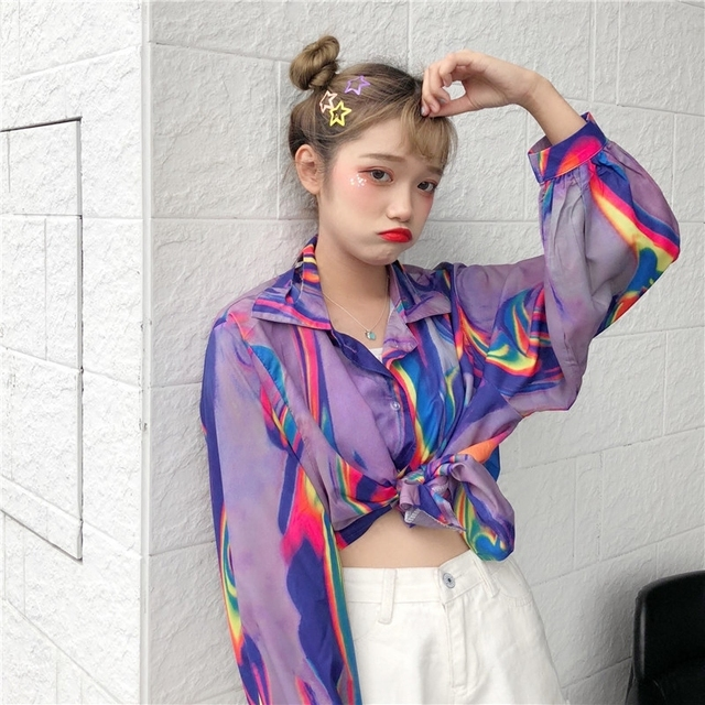 2018 New Summer Fashion Clothes Batwing Full Sleeve Sunscreen Cardigan Turn-down Collar Colorful Jacket Printed WA70814XL 3