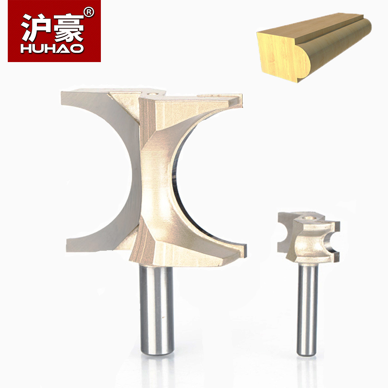 HUHAO 2pcs/lot  1/2 Shank Half Round bit 2 Flute Endmill Router Bits for Wood Without Bearing Woodworking Tool Milling Cutter 3 175 12 0 5 40l one flute spiral taper cutter cnc engraving tools one flute spiral bit taper bits