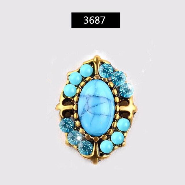 Nouveau 10 pièces charme alliage perle diamants 3D Nail Art décorations brillant cristal bijoux Flatback conceptions manucure accessoires à créer soi-même