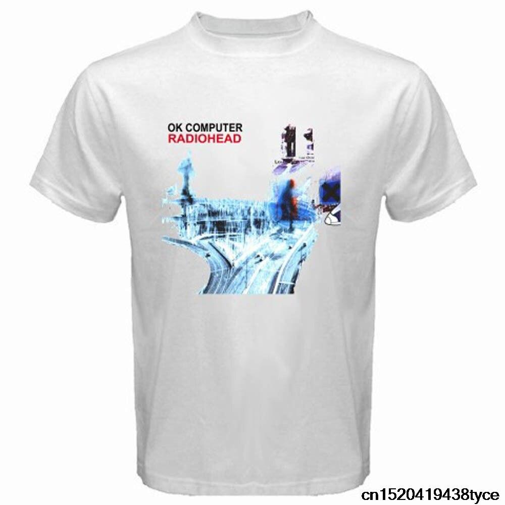 Design t shirt gildan - Gildan 2017 Men S New Radiohead Ok Computer Rock Band Logo Design T Shirt Novelty Tops Custom Printed Short Sleeve Tees