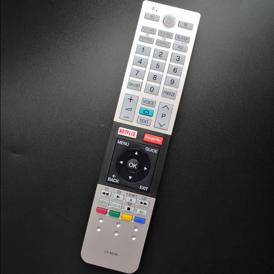 New Original CT-8536 For Toshiba TV Remote Control With Voice Netflix Google Play Functions Controller