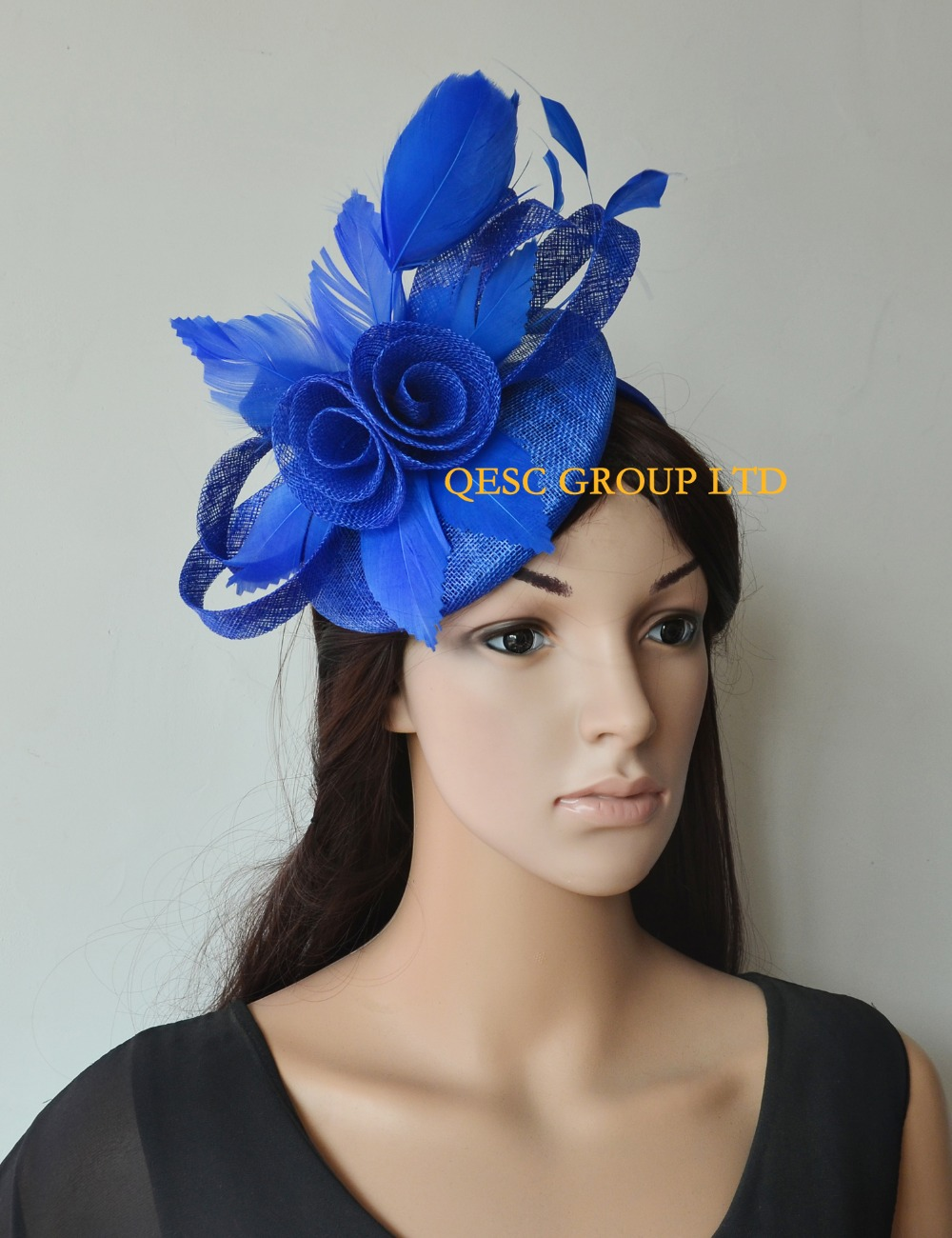 2b30563c Wholesale NEW 8 colours Black Kentucky derby Hat Feather Fascinator sinamay fascinator  hat for Melbourne Cup,Races,Wedding.-in Women's Hair Accessories from ...