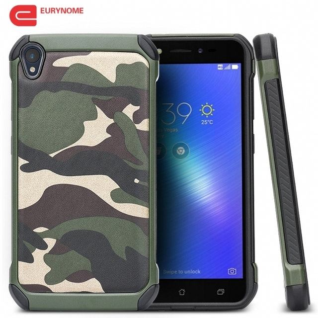 hot sale online 82175 8c267 US $4.89  Armor Case for Asus Zenfone Live ZB501KL Army Camouflage PC With  TPU Heavy Duty Shockproof Cover for Zenfone Live ZB501KL Case-in Fitted ...