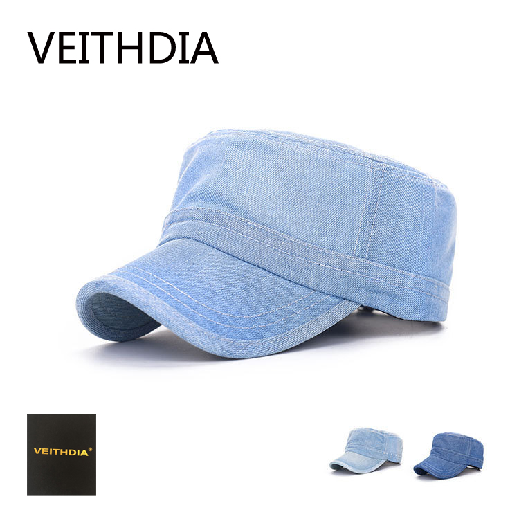 VEITHDIA New Arrivals Unisex Solid Retro Baseball Cap Brand Summer Hats For Women Men Solid Snapback Caps Army Cap 488 brand kenmont new summer hats for women 100