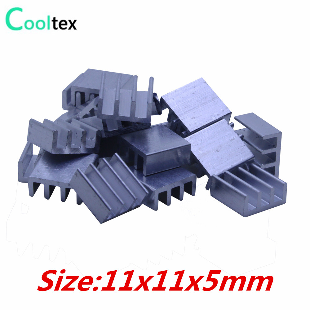 все цены на 50pcs Extruded Aluminum heatsink 11x11x5mm for Chip VGA  RAM LED  IC radiator COOLER cooling онлайн