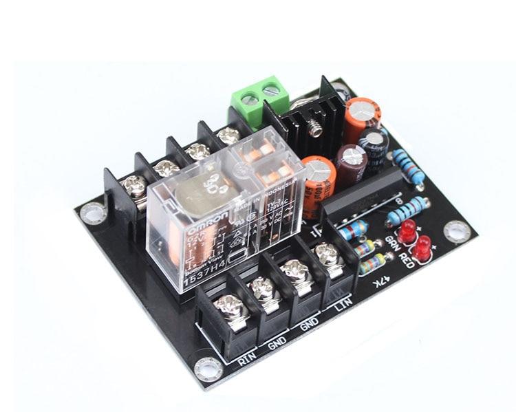 UPC1237 Speaker Protection Board AC 12V-24V OMRON Relay For Stereo 2 Channels Amplifier