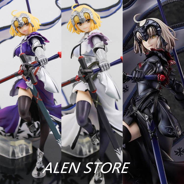 ALEN New Arrival Anime Fate/Grand Order Action Figure Fighting Sexy Ruler Alter Jeanne D'arc 4th Ver PVC 24cm Kid Popular Toy fate grand order anime saber jeanne gilgamesh e f g h i j series japanese rubber keychain