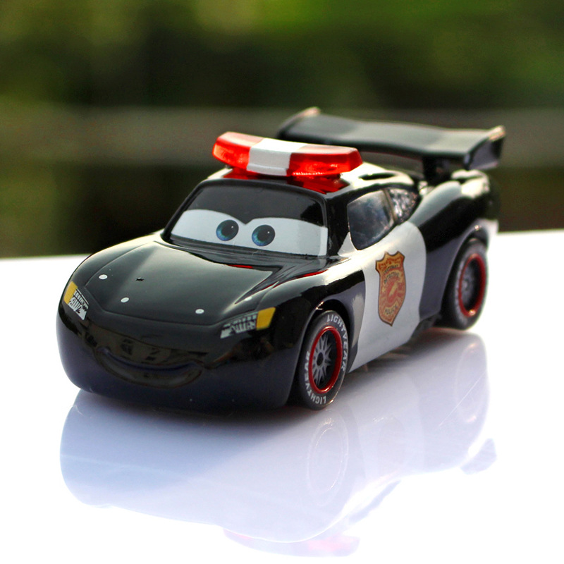 Disney Pixar Cars 3 Lightning McQueen 1:55 police car Diecast Brand Metal Alloy Toys Birthday Christmas Gift For Kids Car Toys