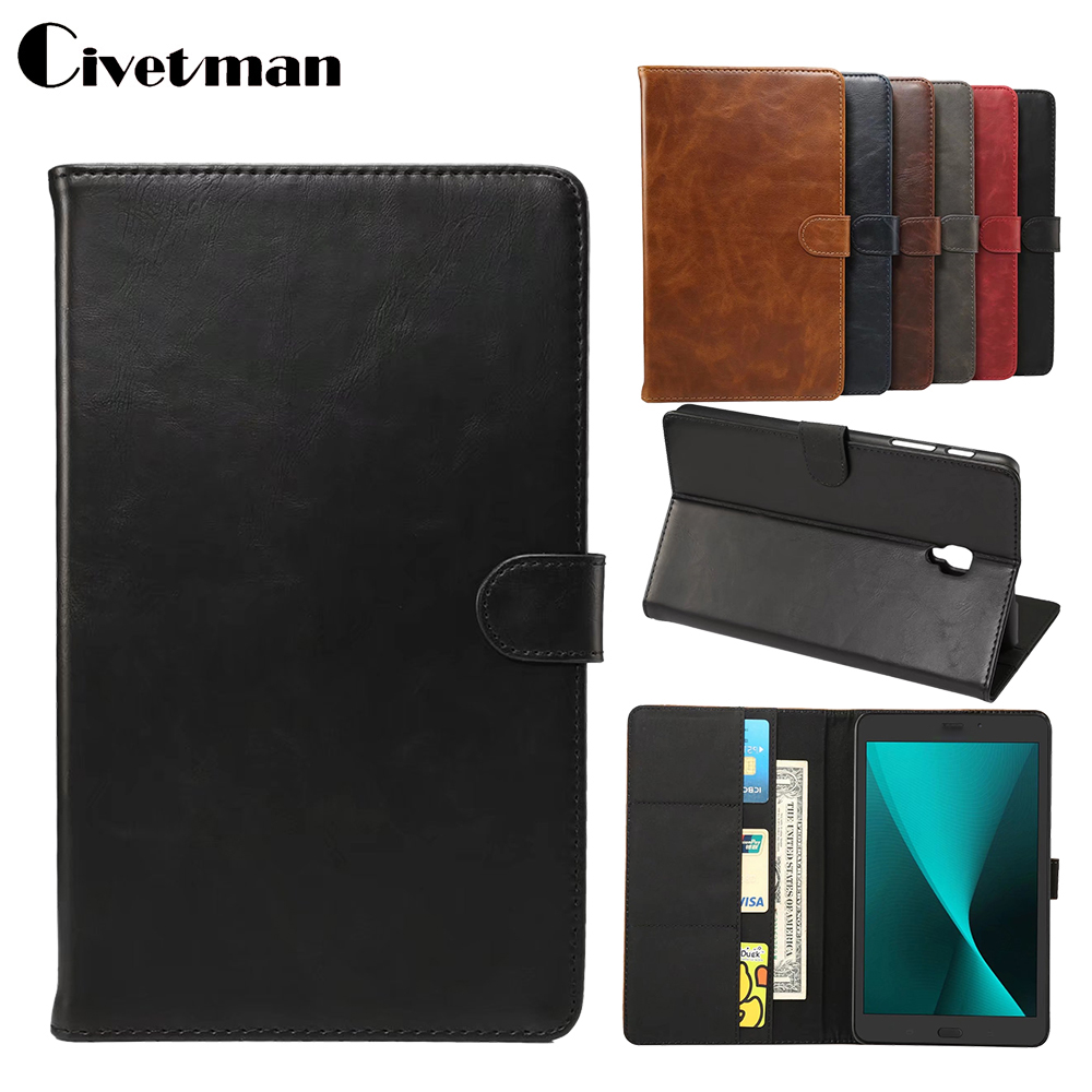 For Samsung Galaxy T380 T385 Case Luxury PU Magnet Smart Sleep Wake Up Back Cover For Samsung Galaxy Tab A 8.0 2017 T380T385 luxury folding flip smart pu leather case book cover for samsung galaxy tab s 8 4 t700 t705 sleep wake function screen film pen