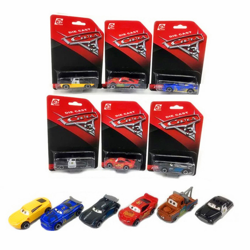 Disney Pixar Cars 3 Mini Size Metal Black Storm Jackson Car Toy Mini Lightning McQueen Speed Sports Car Boy Birthday Gift