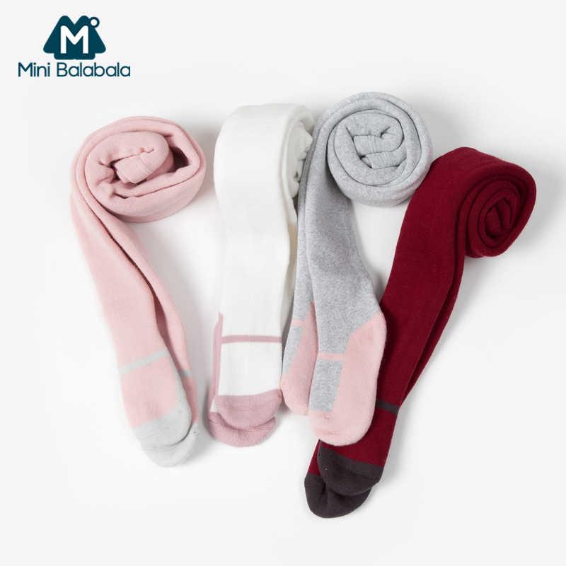 Mini Balabala fille collants automne hiver bébé collants coton enfants doux vente chaude chaud Double aiguille anti-boulochage vêtements
