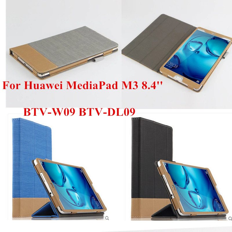 SD Luxury PU Leather Business Case For Huawei MediaPad M3 8.4 inch BTV-W09 BTV-DL09 tablet PC Protective Skin Book Cover