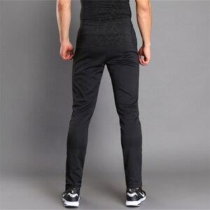 Image 3 - Nefes bisiklet koşu pantolonları erkek spor Joggers koşu pantolon Zip cep eğitim spor pantolonları koşu tenis futbol