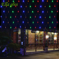 String Lights 3M X 2M 200 LED Linkable Design Net Mesh Ideal For Indoor Outdoor Home