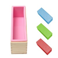 Silicone Liner Soap Mold Wooden Mould Free Cutter Maker Box Rectangle Candle DIY Making Loaf Swirl