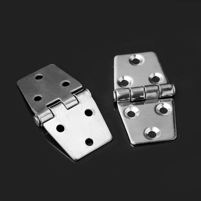 US $5 6 17% OFF|2pcs Flush Door Hatch Latch Compartment Casting Hinges 6  Holes Stainless Steel 316 Boat Marine Grade -in Door Hinges from Home