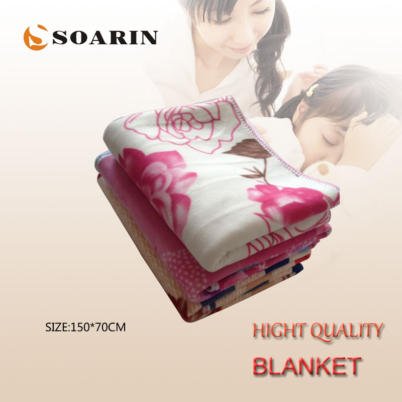 SOARIN Electric Blanket 150x70cm Electric Heating Blanket Plush Single Manta Electrica 220v Mattress Heated Blanket Body Warmer