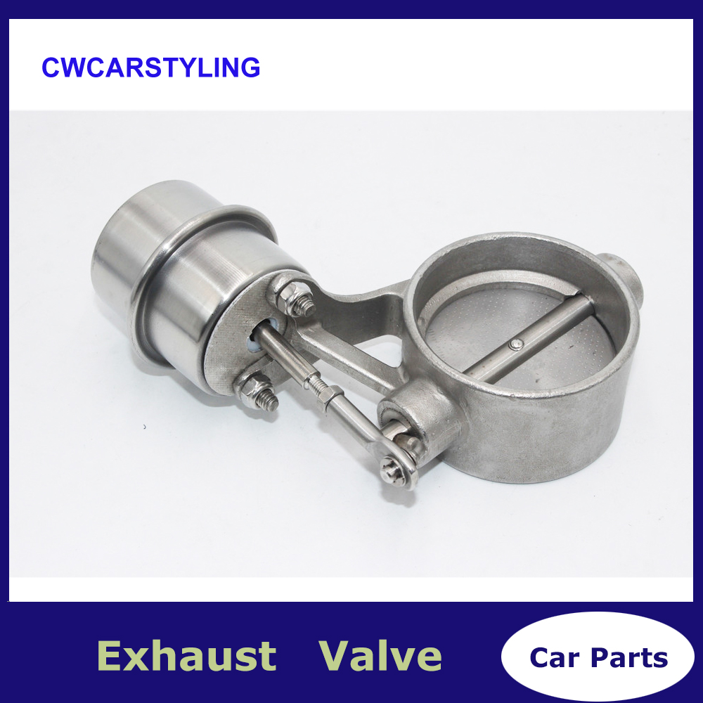 3'' 76MM Stainless Steel Exhaust Control cutout Valve Set With Vacuum Actuator Closed Style
